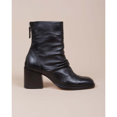 Achat Leather boots with zipper on the back 55 - Jacques-loup