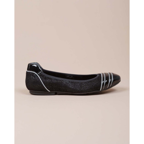 Achat Wrap - Suede and patent leather ballerinas with flakes - Jacques-loup