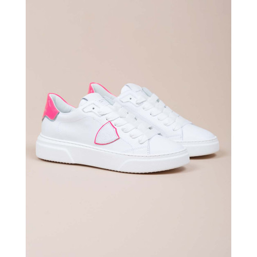 Achat Temple - Leather sneakers with varnished buttress - Jacques-loup
