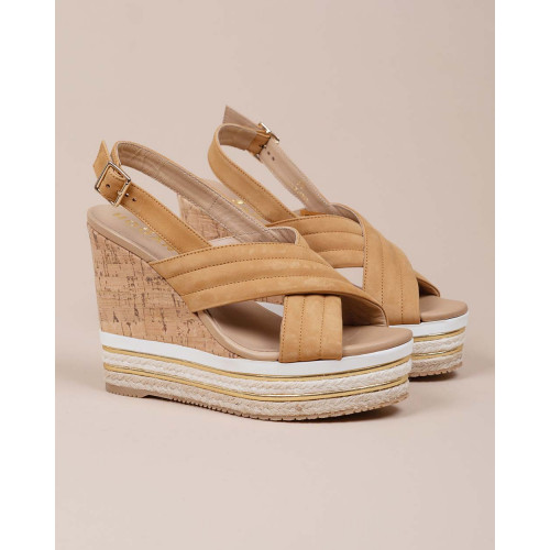 Achat Zeppa - Platform sandals made of leather and cork - Jacques-loup