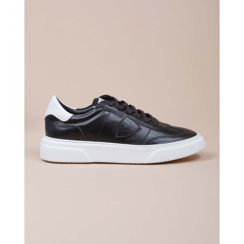 Achat Temple - Leather sneakers with contrasting buttress - Jacques-loup
