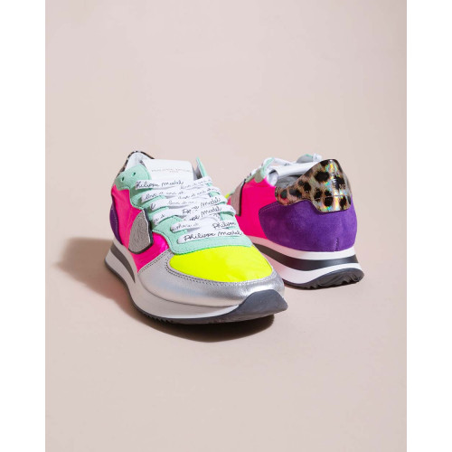 Achat Tropez X - Leather and nylon sneakers with vivid colors - Jacques-loup