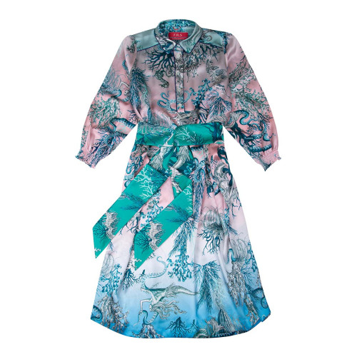 Achat Robe Caftan For Restless Sleepers bleu-rose - Jacques-loup