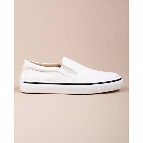 Achat Cassetta Casual -  - Grained leather slip-ons with elastics - Jacques-loup