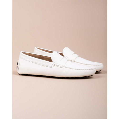 Achat Gommini - Grained leather moccasins with decorative tab - Jacques-loup