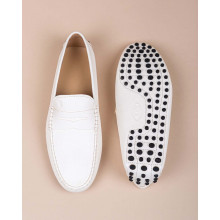 Gommini - Grained leather moccasins with decorative tab