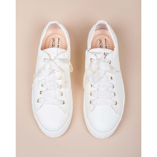 Achat Nappa leather sneakers with soft elastic - Jacques-loup