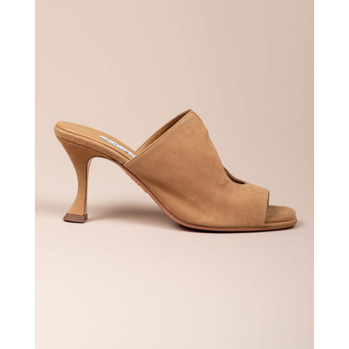 Achat Sexy Thing - Suede mules with waterdrop design 80 - Jacques-loup
