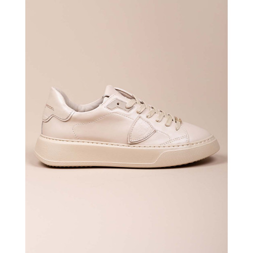 Achat Temple - Leather sneakers with metal plate on shoelaces - Jacques-loup