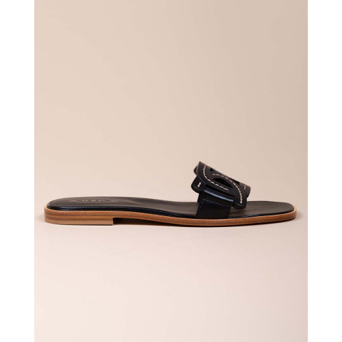 Achat Nappa leather flat mules with link design - Jacques-loup