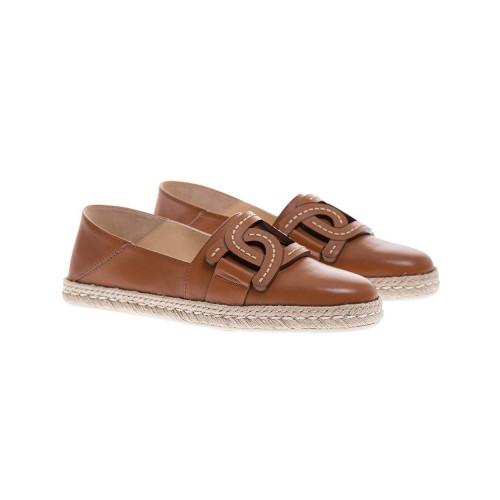Achat Nappa leather espadrilles with link design and rope sole - Jacques-loup