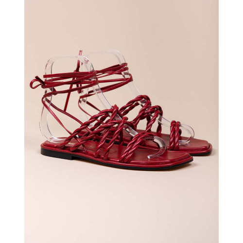 Achat Calypso - Nappa leather sandals with twisted straps 10 - Jacques-loup