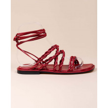 Calypso - Nappa leather sandals with twisted straps 10