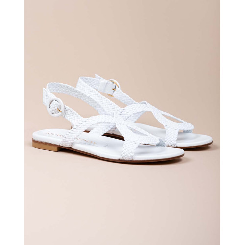 Achat Teodora - Natural plaited leather sandals - Jacques-loup