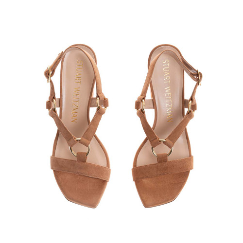 Achat Lalita - Suede high-heeled sandals 75 - Jacques-loup