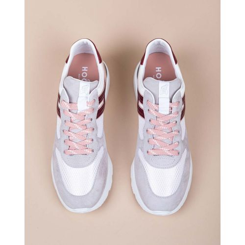 Achat Active One - Textile and split leather sneakers with applied H 50 - Jacques-loup