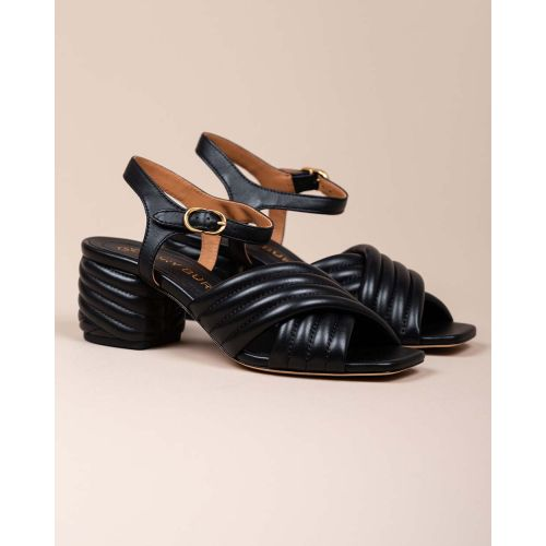 Achat Padded leather high-heeled sandals 55 - Jacques-loup