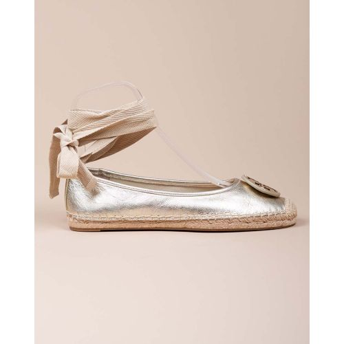 Achat Nappa leather espadrilles shoes with ribbon - Jacques-loup