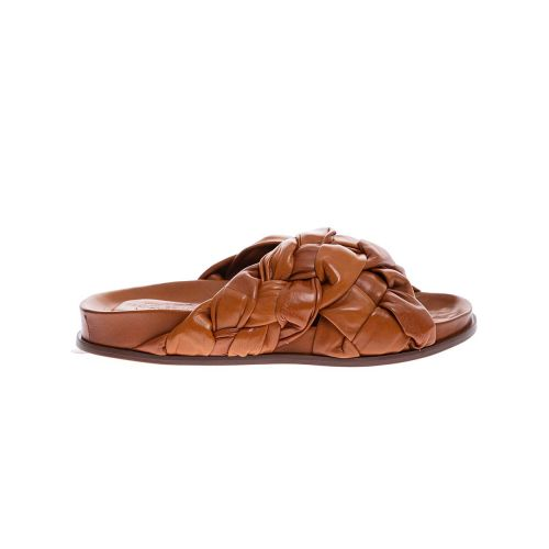 Achat Nappa leather mules with crossing strips - Jacques-loup