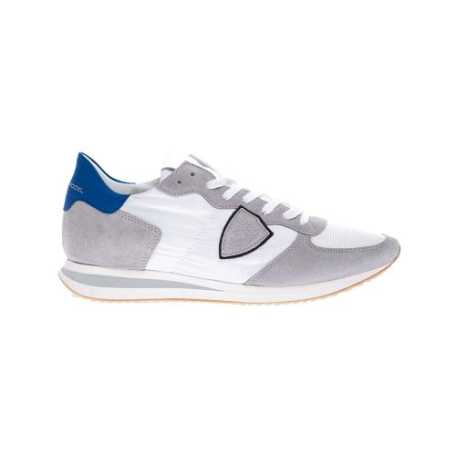 Achat Tropez X - Leather and split leather sneakers with escutcheon - Jacques-loup