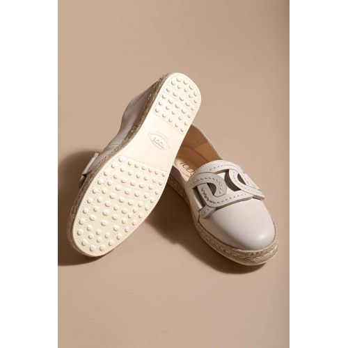 Achat Nappa leather espadrilles with rope sole and link design - Jacques-loup