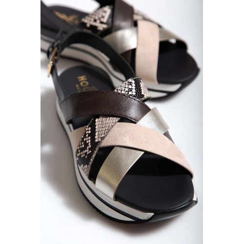 Achat Leather sandals with crossing traps 30 - Jacques-loup