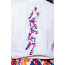 Cotton jersey T-shirt with decorative logo on the front and the back