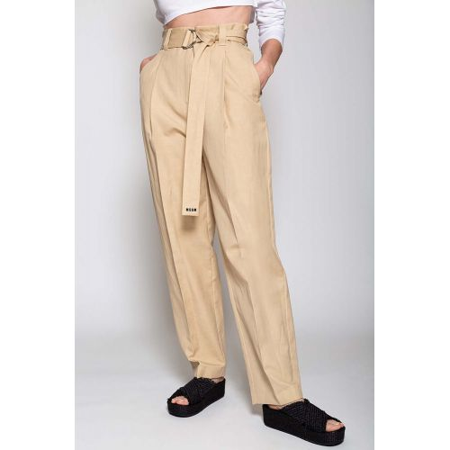 Achat Linen and cotton trousers with high waistline - Jacques-loup
