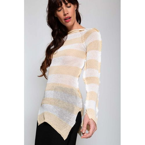 Achat Fine mesh top with splits LS - Jacques-loup