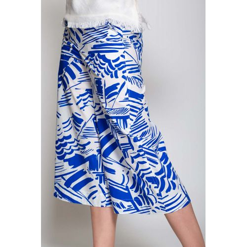 Achat Cotton trousers with beach umbrella print - Jacques-loup