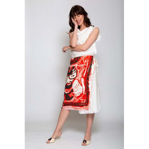Achat Viscose wrap skirt with print - Jacques-loup