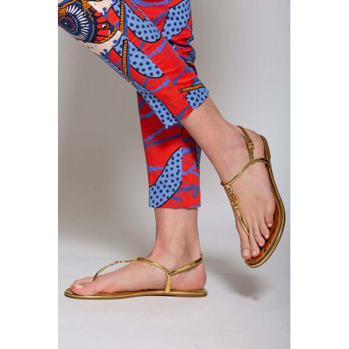Achat Emmy - Leather toe thong sandals with gold logo - Jacques-loup