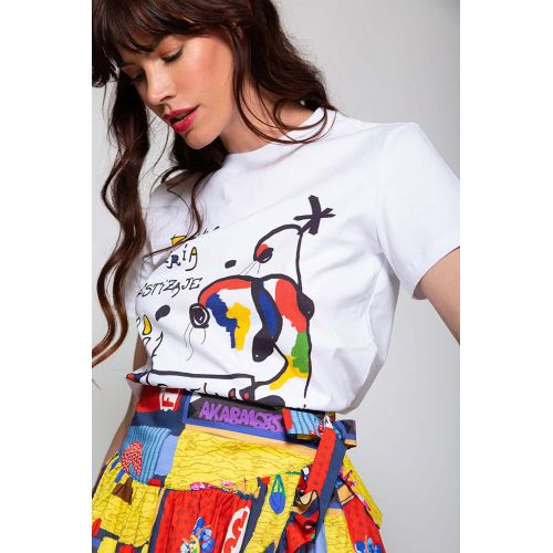 Achat Cotton t-shirt abstrat... - Jacques-loup