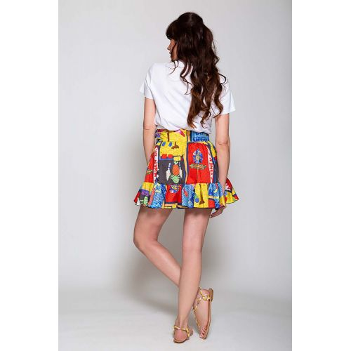 Achat Multicolored cotton mini skirt - Jacques-loup