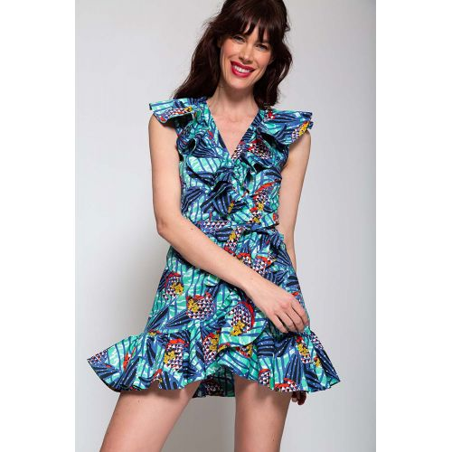 Achat Robe portefeuille MSGM bleu-turquoise - Jacques-loup