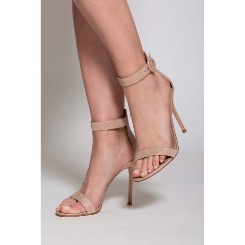 Achat Portofino - Suede sandals with one strip 105mm - Jacques-loup