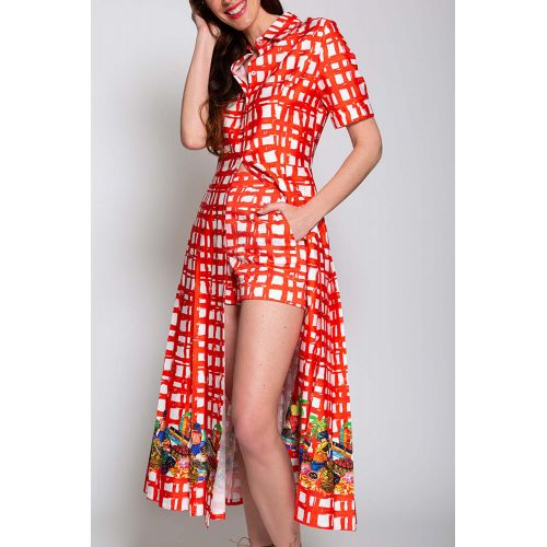 Achat Long cotton dress with... - Jacques-loup