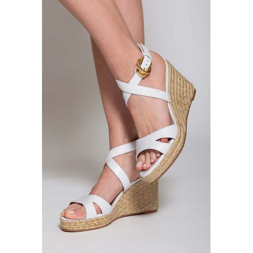 Achat Zuzu - Platform heel sandals nappa leather and rope 80 - Jacques-loup