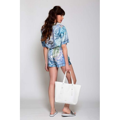 Achat Silk shorts with vintage print - Jacques-loup