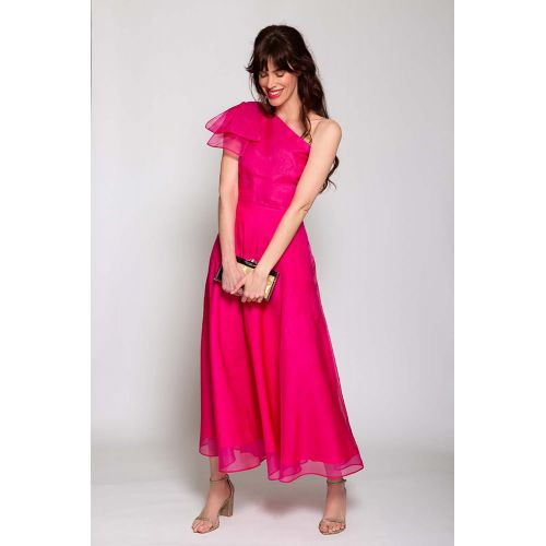 Achat Silk organza asymmetrical long dress - Jacques-loup
