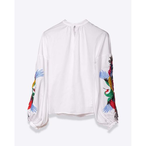 Achat Poplin cotton blouse with embroideries LS - Jacques-loup