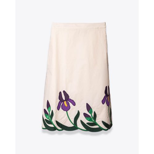 Achat Popelin cotton skirt with... - Jacques-loup