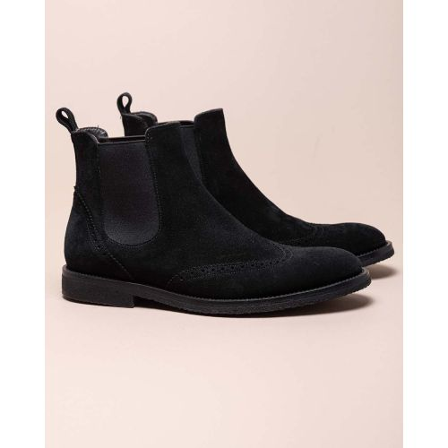 Achat Boots in split leather with elastic straps - Jacques-loup