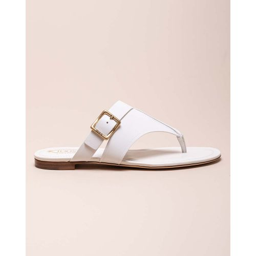 Achat Calf leather toe thong sandals with buckle - Jacques-loup