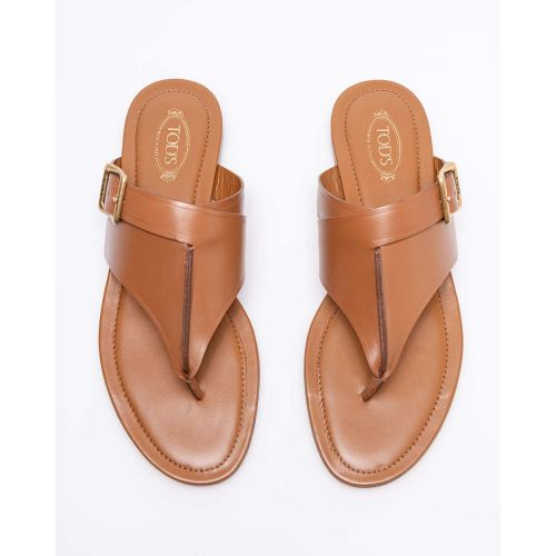 Achat Natural leather flat toe thong sandals - Jacques-loup
