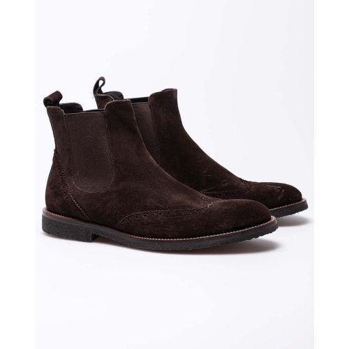 Achat Suede boots with elastic on sides - Jacques-loup