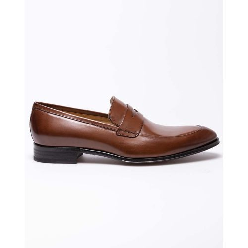 Achat Leather moccasins with upper penny strap - Jacques-loup
