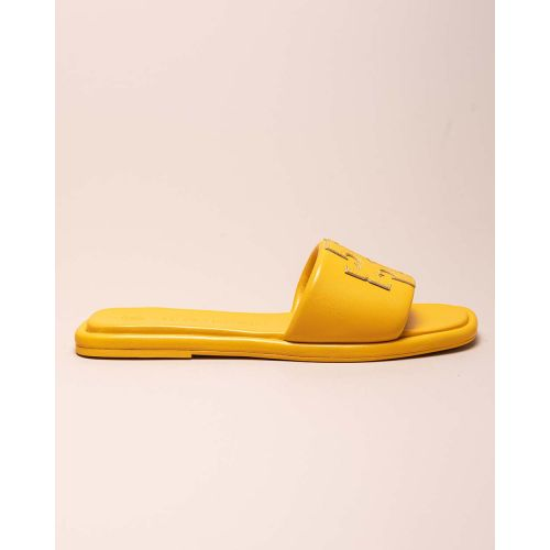 Achat Open toe flat leather mules... - Jacques-loup