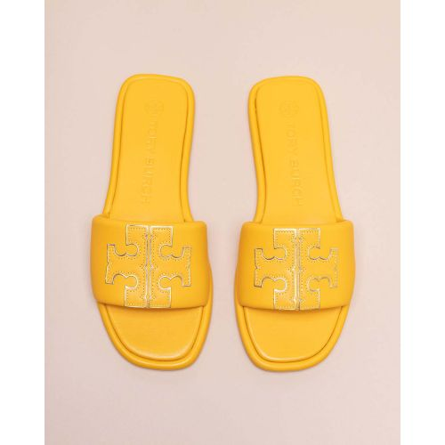 Achat Open toe leather mules T logo - Jacques-loup