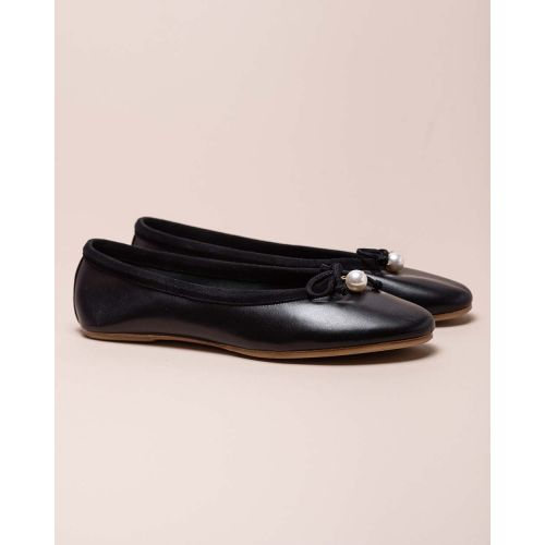 Achat Charm Ballet Flat - Suede ballerinas with pearl - Jacques-loup